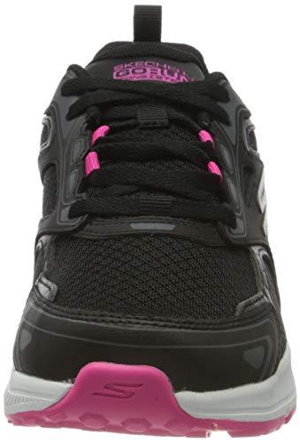 Skechers Go Run Consistent, Zapatillas Mujer, Negro (Black Leather/Synthetic/Pink Trim/Textile Bkpk), 37 EU