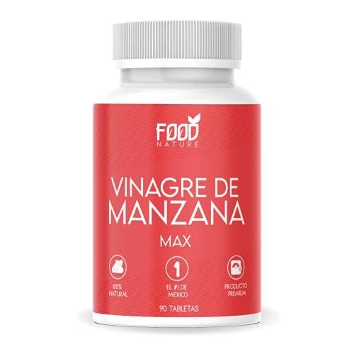 Vinagre de Manzana Max Suplemento Alimenticio Premium 100% Natural para 30 Dias - 90 Tabletas de 500 mg