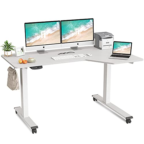 FEZIBO L-Shaped Electric Standing Desk, 55 Inch...