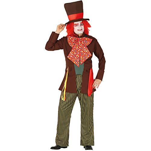 Descabellado disfraz de sombrerero para caballero - L (ES 52/54) - Extraordinario disfraz para hombre Alicia en el pas de las maravillas - El punto alto para fiesta de disfraces y fiestas temticas