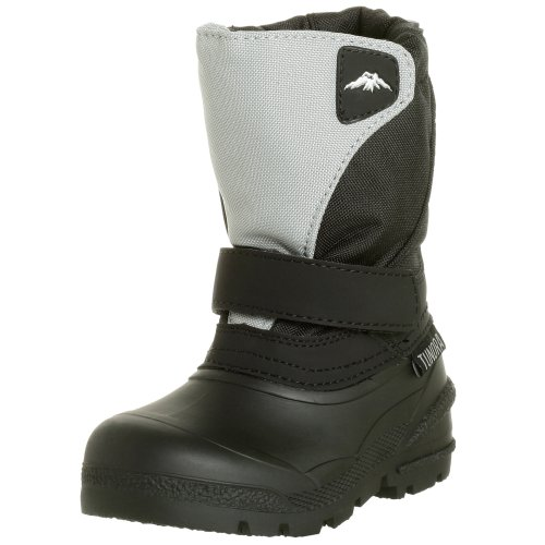 Tundra Kids Quebec Child Winter Boots, Black/Grey, 7 M US Toddler
