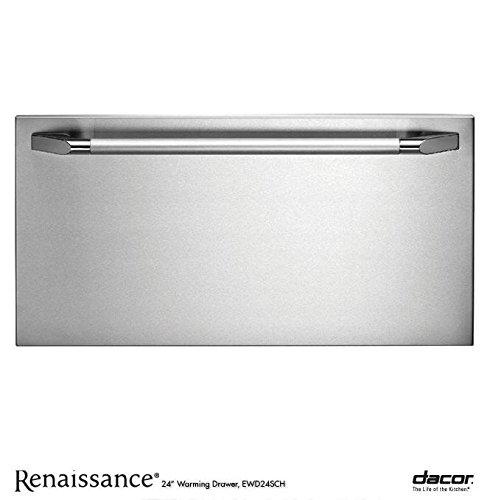 Dacor EWD24SCH Renaissance 24' Epicure Warming Drawer with 500 Watt Heating Element 4 Timer Settings...