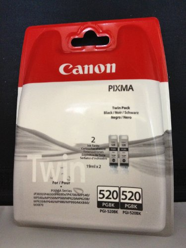 2 Original Canon Druckerpatronen (Twinpack Black) für Canon Pixma iP3600, iP4600, IP4700, MP540, MP550, MP560, MP620, MP630, MP640, MP980, MP990, MX860, MX870 Tintenpatronen