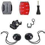 WOLEYI Surf Camera Mount, Flat Surfboard Holder Compatible for GoPro Hero 9 8 7 6 5 4 3+ 3 2 1 and Other Action Camera (Quick Release Buckle + Flat Mount + FCS Plug + Tether)