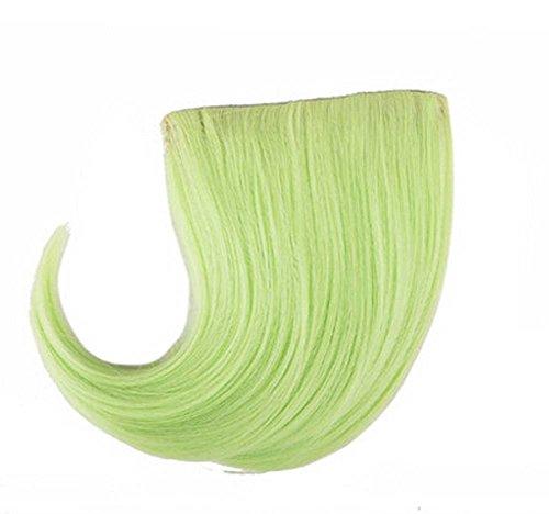Colorful étape perruque, parti perruque, cheveux Bangs Perruques,Green Grass