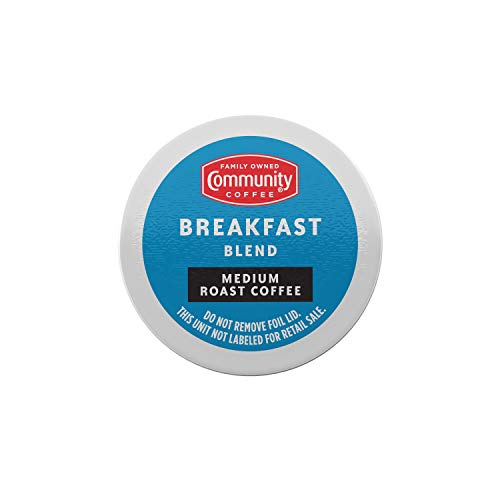 Community Coffee Breakfast Blend 72 Count Coffee Pods, Medium Roast, Compatible with Keurig 2.0 K-Cup Brewers, 12 Count (Pack of 6)