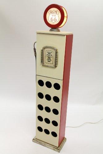 point home Weinschrank, Getränkeregal Zapfsäule mit Licht, weiß/rot, 170cm