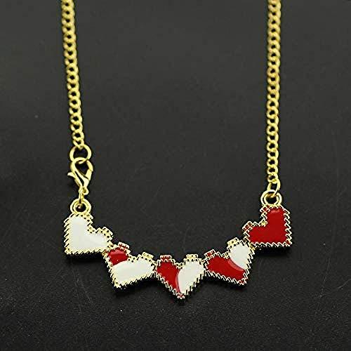 NC110 Hot Game Heart Metal Collar Disfraz Colgantes Accesorio Otaku Animación Regalos