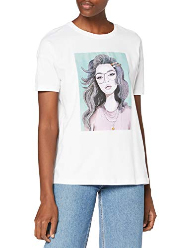 Only Camiseta, Impresión: Glasses/Onlpiber Life Oversize S/S Box Top Jrs, M para Mujer