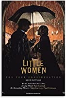 リトルウーマンの映画ポスターキャンバスアートポスターとウォールアートモダンホームベッドルームデコレーションポスター16×24インチ(20×30cm)フレームレス-16×24インチ(40×60cm)_Unframe-style1
