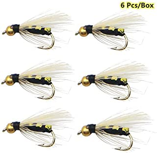 6 pcs dry fly lures bass trout fishing fly lure beetle lures
