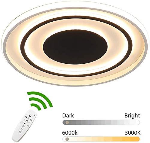 OWEM Moderne LED-Deckenleuchte, 72W Deckenleuchte stufenlos dimmbar mit Fernbedienung, Deckenbeleuchtung 3000K-6000K für Schlafzimmer Wohnzimmer Küche Lampe, Deckenstrahler 50Cm