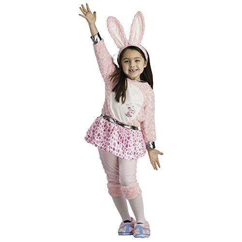 Dress Up America Disfraz Energizante Conejito Dress para niña