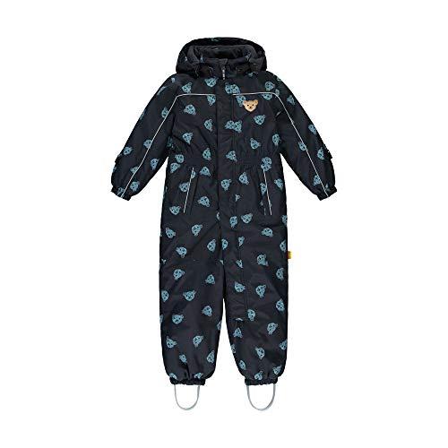 Steiff Baby-Unisex mit süßer Teddybärapplikation Schneeanzug, Navy, 116