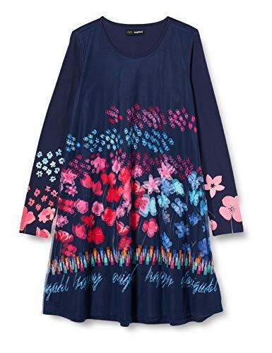 Desigual Kids Tops Ss20 Vestido Casual, Blue, 9/10 para Niñas