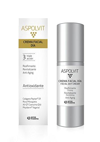 ASPOLVIT – Crema facial revitalizante, reafirmante y antiedad con coenzima Q10. Disminuye las líneas de expresión – 30 ml