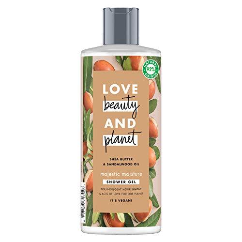 Love Beauty and Planet Gel de Ducha para Piel nutrida, Manteca de Karité y Sándalo Vegano - 500 ml