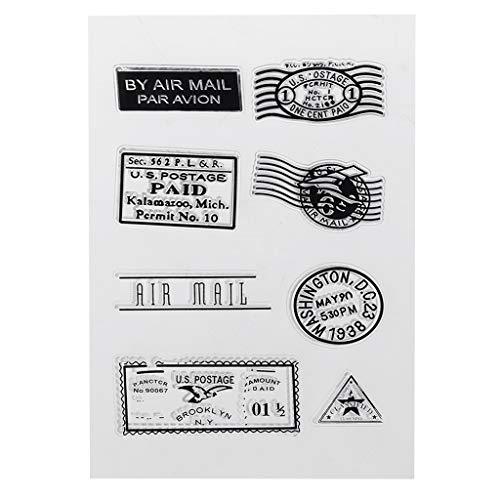 guanjunLI Stempel, transparent, für Scrapbooking/Karte, zum Selbermachen, für Kinder/Tagebuch