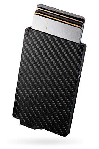 zepirion クレジットカードケース スキミング防止 磁気防止 スライド式 スリム 薄型 カーボンファイバー メンズ レディース