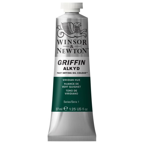 Winsor & Newton Griffin Alkyd Fast Drying Oil Color Tube, Viridian Hue, 37-ml Tube