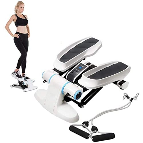 Pulley-E Elliptical Machine Cross Trainer Step Machines with Power Ropes, Trainer Stepper LCD Display...