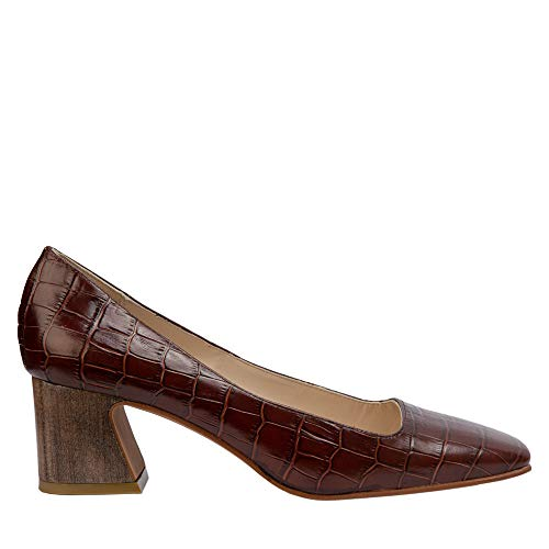 Zapato salón tacón Piel marrón ROSALÍN