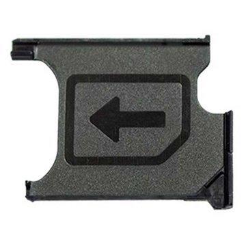 MMOBIEL Mikro SIM-Karte Tray Schlitten Halterung Slot Ersatzteil kompatibel mit Sony Xperia Z1 L39H Lh36i L39t C6903 C6902 Z1 Compact M51w D5503 Schwarz