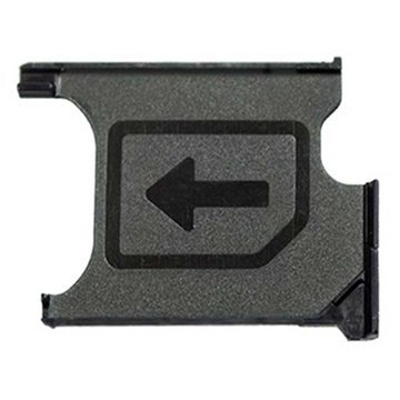 MMOBIEL Soporte Ranura de Bandeja de Tarjeta Micro Sim Repuesto Compatible con Sony Xperia Z1 L39H Lh36i L39t C6903 C6902 Z1 Compact M51w D5503 (Negro)