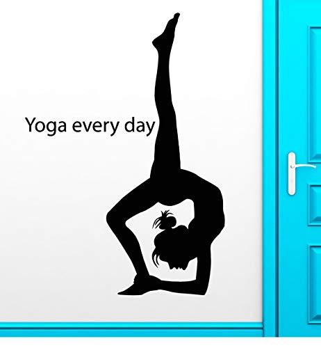 Zwyluck Yoga Muurstickers Meisjes Gymnastiek Sport Thuis Muurtattoo behang 57 * 130 cm