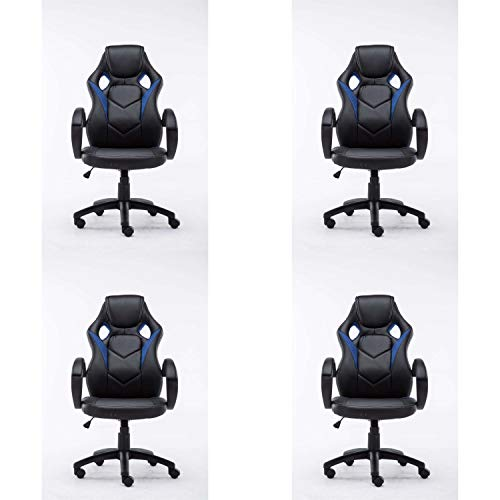 Lüllmann Magnus - Silla giratoria de oficina (4 unidades), color azul