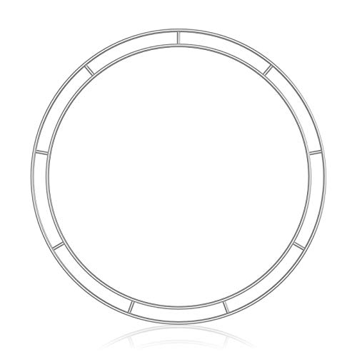 æ— 4pcs Round Metal Wreath Frame, Silver Wire Wreath Rings Floral Hoop Set for New Year DIY Macrame Floral Dreamcatcher Craft