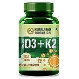 Himalayan Organics Vitamin D3 with K2 as MK7 supplement -...