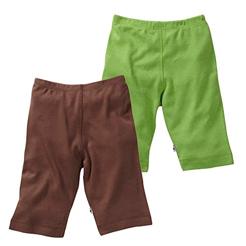 Babysoy Eco Comfy pantalones Boy/niña Pack de 2 Cocoa + Grass Talla:12-18...