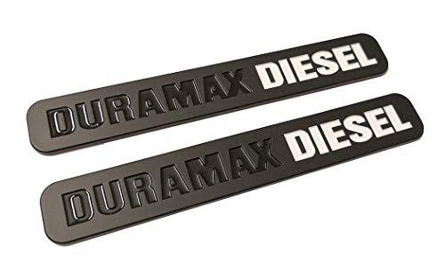 2pcs Duramax Diesel Allison Truck Emblem Replacement for SILVERADO 2500 3500 HD GMC SIERRA (Black white)