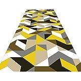 DHTOMC Alfombra premium de 1 m, 2 m, 3 m, 4 m, 5 m, 6 m, 7 m, alfombras de pasillo de pasillo de cocina, lavables, multicolor, 0,6 x 5 m