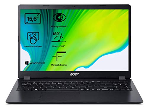 Acer Aspire 3 - Ordenador portátil 15.6' FullHD (AMD Ryzen 7 2700U, 8GB RAM, 128GB SSD + 1TB HDD, Radeon RX Vega 10 Graphics, Windows 10 Home) Negro - Teclado QWERTY Español