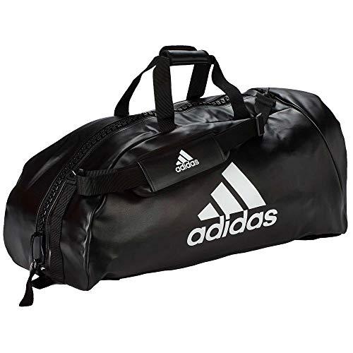 adidas Sporttasche - Sportrucksack Kunstleder schwarz/Weiss, Gr. L