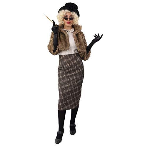 NET TOYS Stilvolle Pelz-Jacke Faux Für 20er Jahre Style - Braun 38/40 (S/M) - Hochwertiges Damen-Kostüm-Zubehör Jäckchen in Fell-Optik - Ideal für Mottoparty & Fasching