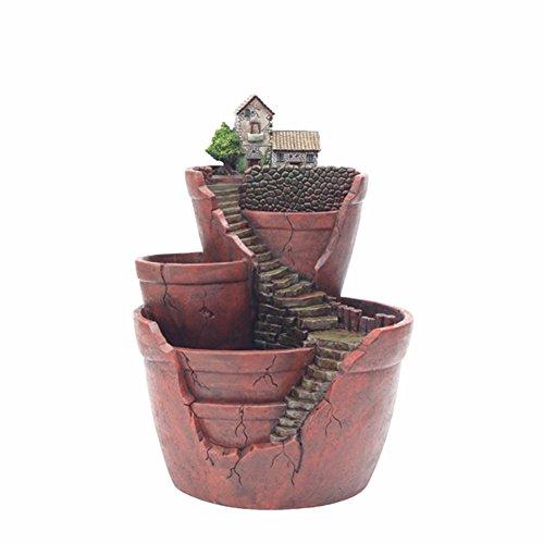 Vaso Per Piante Grasse Paesaggistiche Mini Formato Creativo Fata Giardino Fioriera Appeso Design Giardino Con Sweet House (E)