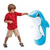 The punching bag is light enough for a child to use Easy to set up - just hang the boxing bag anywhere as per your convenience Dolphin Bop Bag for kids to adore Safety valve and Fun for children Built-in Water chamber for stability