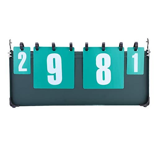 T-Day Marcador Deportivo, Marcador de 4 dígitos, Marcador de competición Deportiva de 4 dígitos para competiciones de Tenis de Mesa