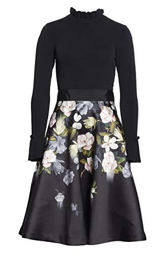 Ted Baker Nerida Opal Printed Full Skirted Dress Black 3 (US 8)