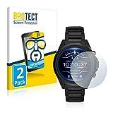 BROTECT Protector Pantalla Compatible con Emporio Armani Exchange Smartwatch AXT2002 Protector Transparente (2 Unidades) Anti-Huellas