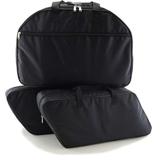 SET de 3 bolsas, bolsillos interiores adecuados para 2 maletas laterales moto y 1 maleta moto (Top Case) de Harley Davidson, King Tour Pak, Touring - No. 21+22