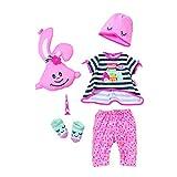 Zapf Creation 824627 BABY born Deluxe Set Übernachtungsparty Schlafanzug Set Puppenkleidung 43 cm, 6-teilig