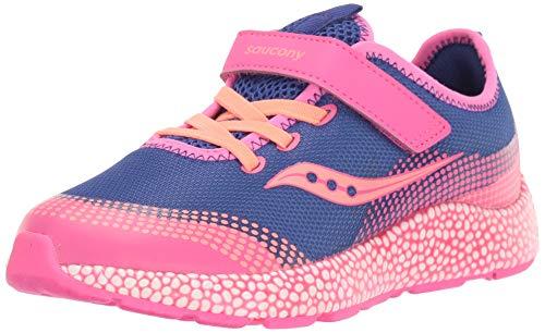 Saucony Girl's Astrofoam Sneaker, Blue/Pink, 2.5 W US Big Kid