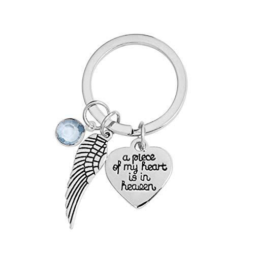 Sperrins Un morceau de mon cœur est au paradis porte-clés couples amitié accessoire porte-clés ange aile porte-clés pendentif décor cadeau