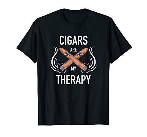 Funny Cigar Smoker Tshirt Cigars are my Therapy Gift Shirt T-Shirt