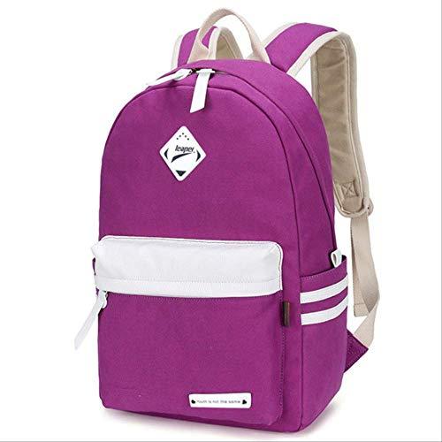 Schooltas adreset mode vrouwen canvas solide schooltas merk reis zwart rugzak voor meisjes jongeren stijlvolle laptoptas rugzak