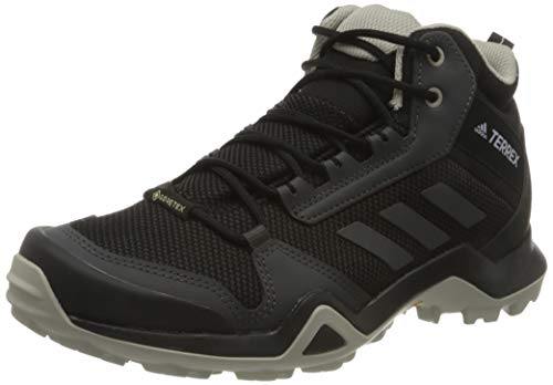 adidas Damen Terrex Ax3 Mid Gtx W Leichtathletik-Schuh, Kern Schwarz/Dgh Fest Grau/Lila Tönung, 40 EU